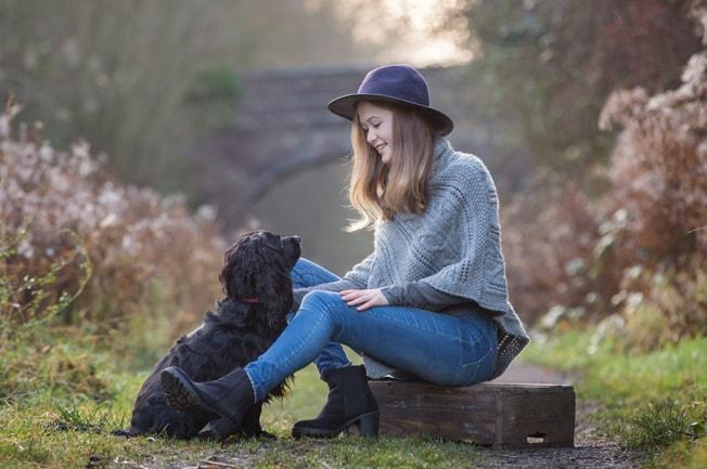 Portraits with Pets – Emma, Sarah and Hudson the Dog!