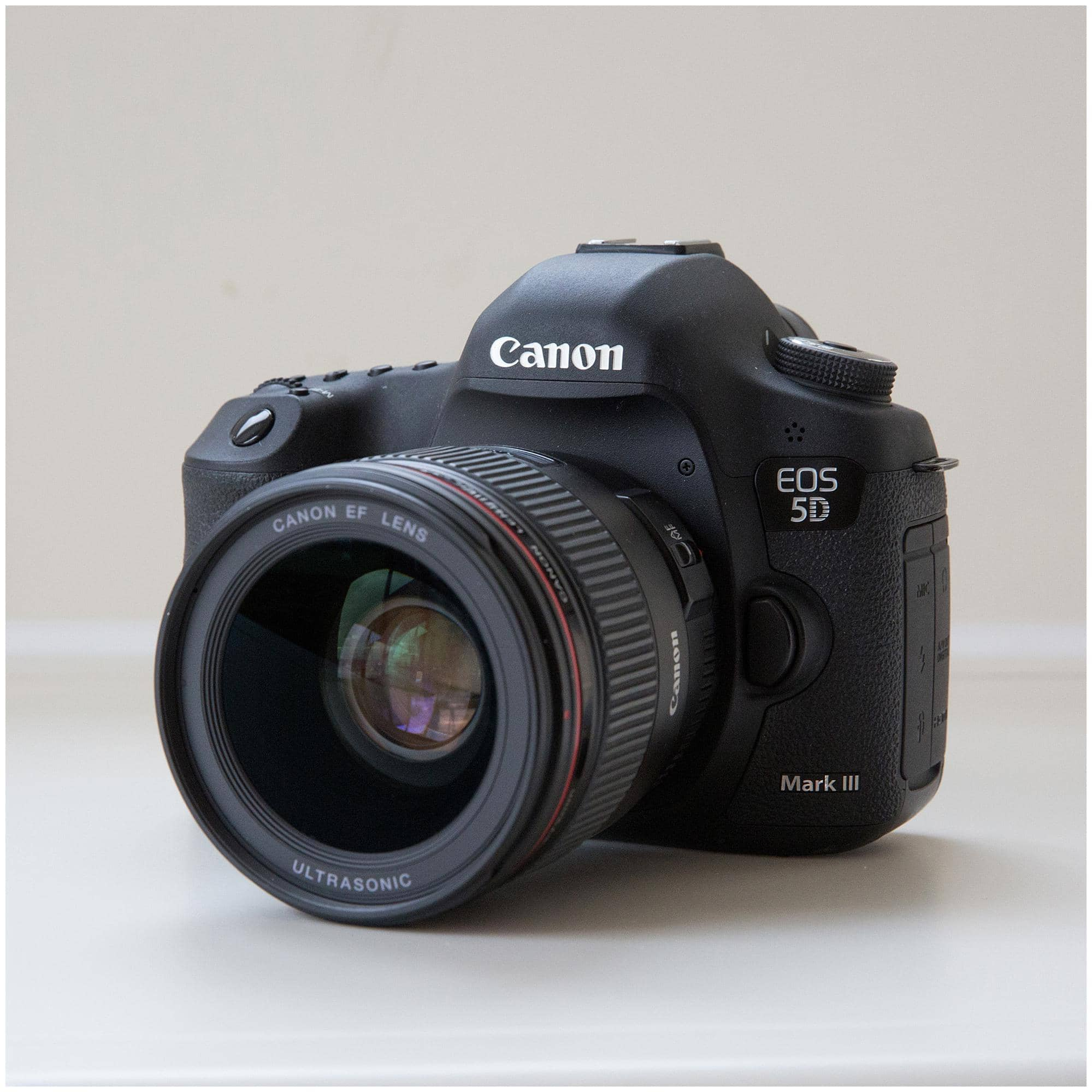 Canon 5D mark iii Camera on a white background