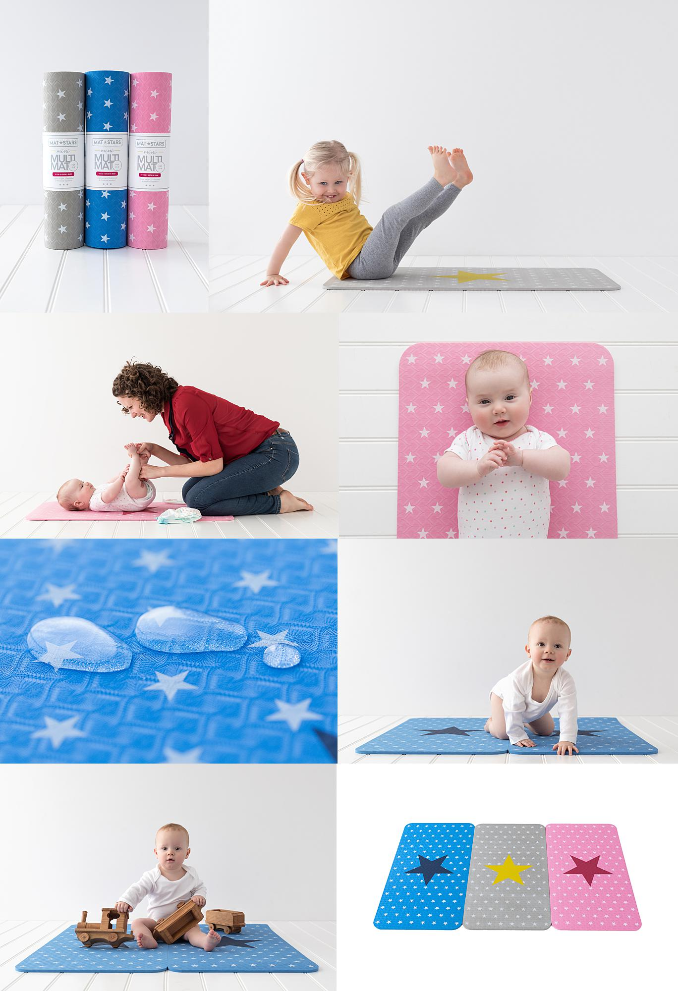 Collage of Personal Branding photos for a photoshoot with Baby Multi Mats