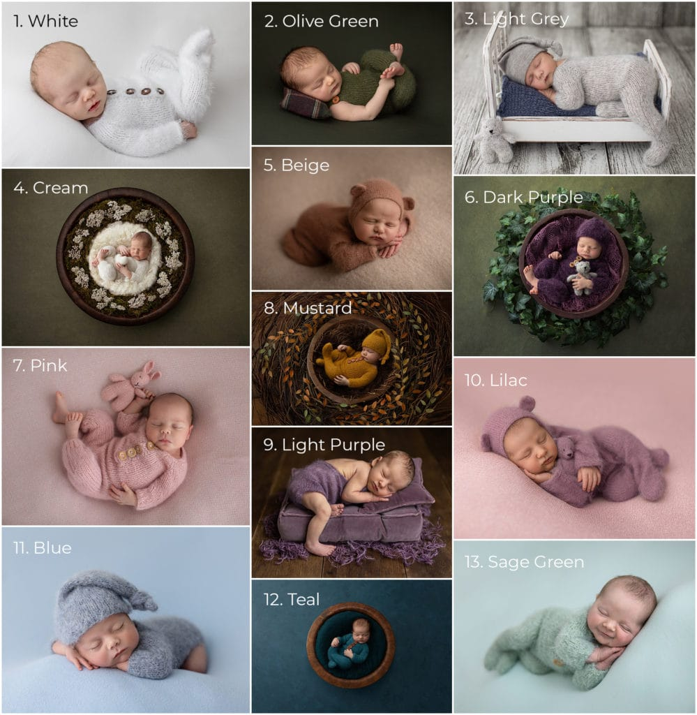 Newborn Rompers available for clients use at Alison McKenny Photography